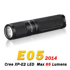 Fenix E05 2014 Edition Cree XP-E2 LED 85 Lumens Flashlight Torch Black + Battery