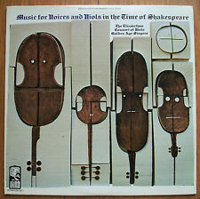 "Music for voices and Viols in the time of Shakespeare 12"" LP Classical  WGS-8216"