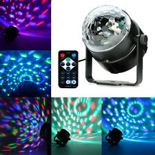 Rotating LED RGB Crystal Ball laser Light Stage Lighting Disco Party + IR Remote