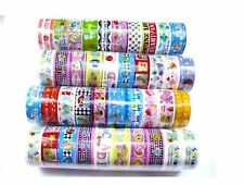 10 Rolls Mixed Lovely Cartoon Deco Tape Adhesive Scrapbooking Sticker C