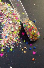glitter mix acrylic gel Nail Art  NEON PARTY