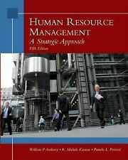 Human Resource Management: A Strategic Approach Fifth Edition Textbook School HR