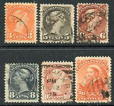CANADA 1888-93 VALUES USED #41-46