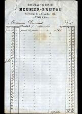 """TOURS / LA TRANCHEE (37) BOULANGERIE """"MEUNIER & BRUTOU"""" en 1875"""