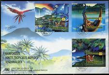 UNITED NATIONS SPECTACULAR COVER HOLDING 1998 RAINFORESTS  2  FDCS