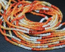 """Natural Mexican Fire Opal Gemstone Faceted Rondelle Loose Beads Strand 3mm 13"""""""