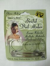 BRIDAL VEIL DO IT YOURSELF CRAFT COSTUME MIRACLE BOW MAKER NO SEWING HAIR CLIP
