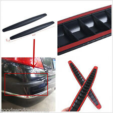 Black Carbon Fiber Texture Autos Bumper Anticollision Guard Strips Anti-scratch