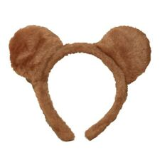 Brown Soft Furry Teddy Bear Ears Alice Hair Band Headband Fancy Dress Party Hen