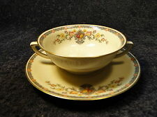 Community China King Cedric Handled Cream Soup Bowl Saucer Set Bavaria PERFECT!