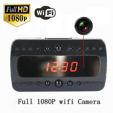 HD1080P WiFi Night Vision IP SPY CAMERA DVR IN ALARM CLOCK FOR ANDROID IPHONE