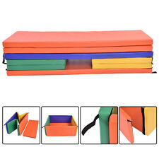 Baby Playpen 5 Panel Safety Mat Pad Colorful Foldable PU Leather Kids Play Yard