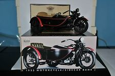 Harley Davidson 1:12 Scale 1933 Motorcycle/Sidecar Bank w/COA Limited Edition