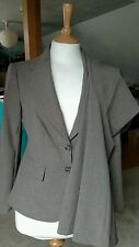 The Limited Brown 2 Piece Jacket & Pant Suit Stretch Women's Career Size 4