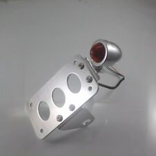 Chrome License Plate Bracket Side Mounting Tail Brake Light Bike Chopper Custom