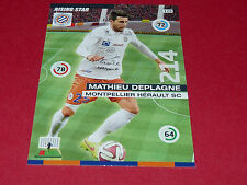 M. DEPLAGNE MONTPELLIER MHSC MOSSON FOOTBALL ADRENALYN CARD PANINI 2015-2016