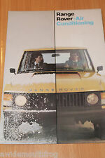 Range Rover Air Conditioning Sales Folder Colour 1980