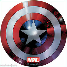 Captain America Shield Stickers x 5 - Birthday Party Favours - Avengers Stickers