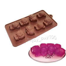 Lion Bear Animal Shape Ice Cube Soap Mold Silicone Chocolate Crayon FUN Maker