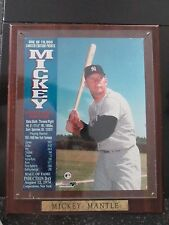 Mickey Mantle Hall Of Fame Induction Day Photo Plaque on Wood  1 of 1000