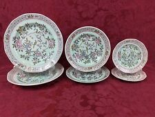Adams Calyx Ware Singapore Bird 6-Piece Lot Dinner, Salad Bread Plates