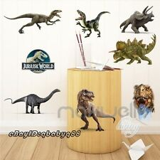 Jurassic World 10pcs Dinosaur Wall Decals Stickers Kids Boy Decor Birthtday Gift