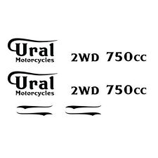 Motorcycle Gas Tank & Body Decal Badge Kit fits Ural, Dnepr, BMW UG 3705-(XX)