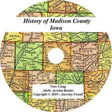 1915 History & Genealogy of MADISON COUNTY IOWA Winterset IA Biographies Family