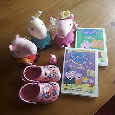 Fantastic PEPPA PIG Bundle - Toys/DVDs/Shoes