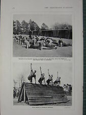 1915 WWI WW1 PRINT ~ SCOTS GUARDS IN TRAINING AT CATERHAM ~ FOOD GUARDS DEPOT