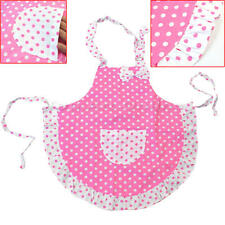 Child's Kitchen Cook 2 Layers Cloth Frills Polka Dots Toddlers Princess Apron