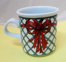 Dansk Nordic Garden Coffee Mug Christmas Red Bow Great Shape
