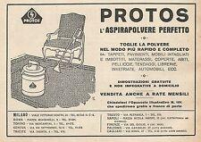 Z0208 PROTOS l'Aspirapolvere perfetto - Pubblicità del 1928 - Advertising