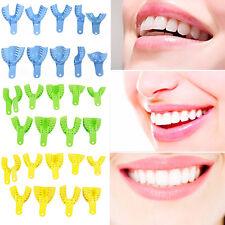 10x Dental Impression Plateaux Prothèse Dentaire Perforés Complète Autoclavable