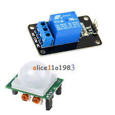Imported HC-SR501 Human Infrared Pyroelectric Sensor Module + 5V 1 Channel Relay