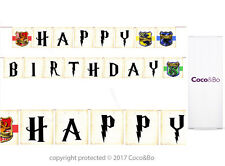 Coco&Bo 1 x Happy Birthday Bunting - Hogwarts Harry Potter Party Decorations
