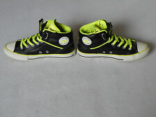 CONVERSE ALL STAR LOOPBACK OLDER BOYS BLACK LEATHER HI-TOP TRAINERS SHOES UK 5