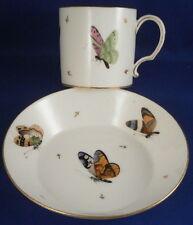 Antique Paris French Porcelain Butterfly Cup & Saucer Porzellan Tasse Vieux Old