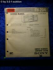 Sony Service Manual FH 204 Compact Component System (#3346)