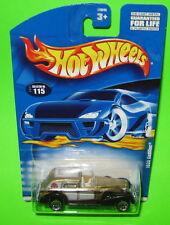 Hot Wheels 1935 Cadillac 2001 #115 Metalflake Gold Car 50645 Lace Wheels MOC