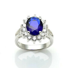 Princess inspired Royal Collection Sapphire Cubic Zirconia Engagement Ring 7