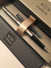 NEW PARKER 15 FLIGHTER CT MEDIUM NIB FOUNTAIN PEN-UK-BLACK INK-GIFT BOX