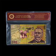 WR Romania 100 24k gold banknote collectors Unique Color Edition rare bank notes
