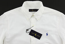 Men's RALPH LAUREN White Shirt L Large NWT NEW Blue Pony