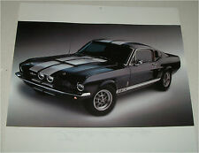 1967 Ford Shelby Mustang GT 350 Fastback car print (black & white)