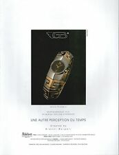 ▬► PUBLICITE ADVERTISING AD MONTRE WATCH Montre bracelet clip G. Bulgari 1992