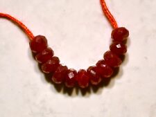 Precious Real RUBY 3.5-4mm (10 Loose Genuine FACETED Rondelle) Beads 4.1 Ctw