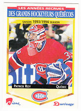 Patrick Roy , 1993-94,  Durivage Score , #17 , Montreal Canadiens