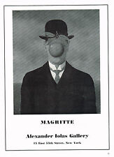 1960's Vintage Rene Magritte Exhibition Alexander Iolas Art Gallery Print AD