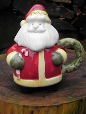 Ceramic Covered Santa Cup Mug Christmas Coffee Tea Hot Cocoa Lid   CL